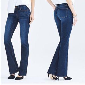 J Crew Classic Flare Dark Wash Jeans Pants